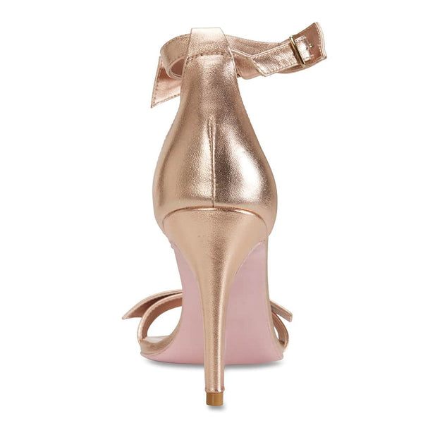 Destiny Heel in Rose Gold Leather