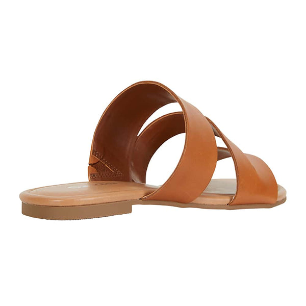 Detour Slide in Tan Leather