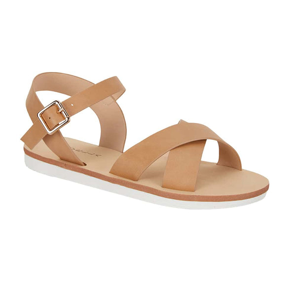 Diane Sandal in Camel Smooth