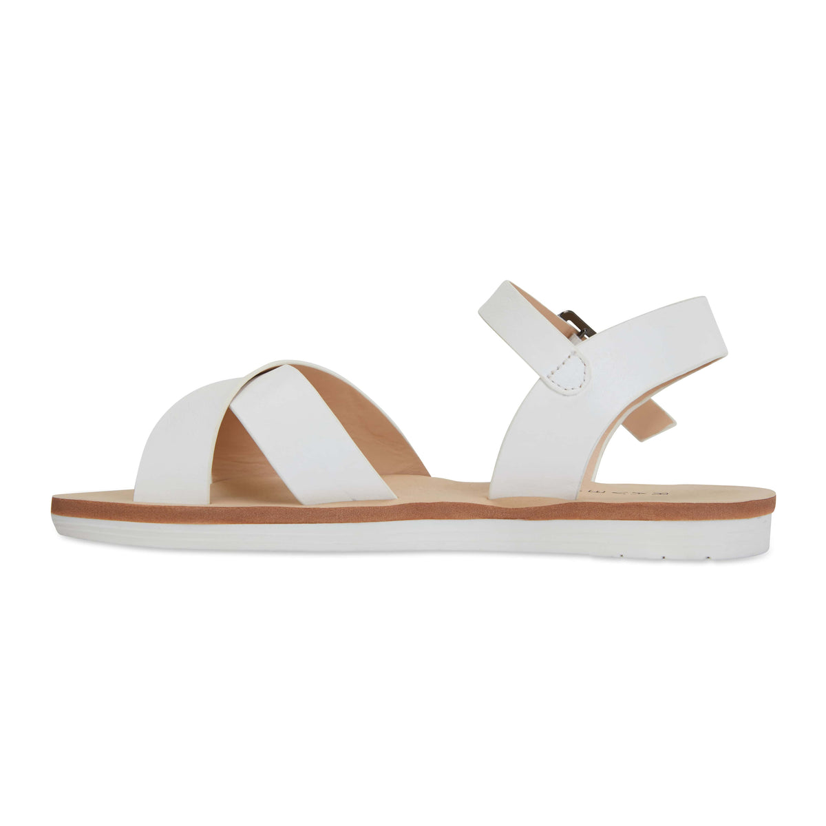 Diane Sandal in White Smooth