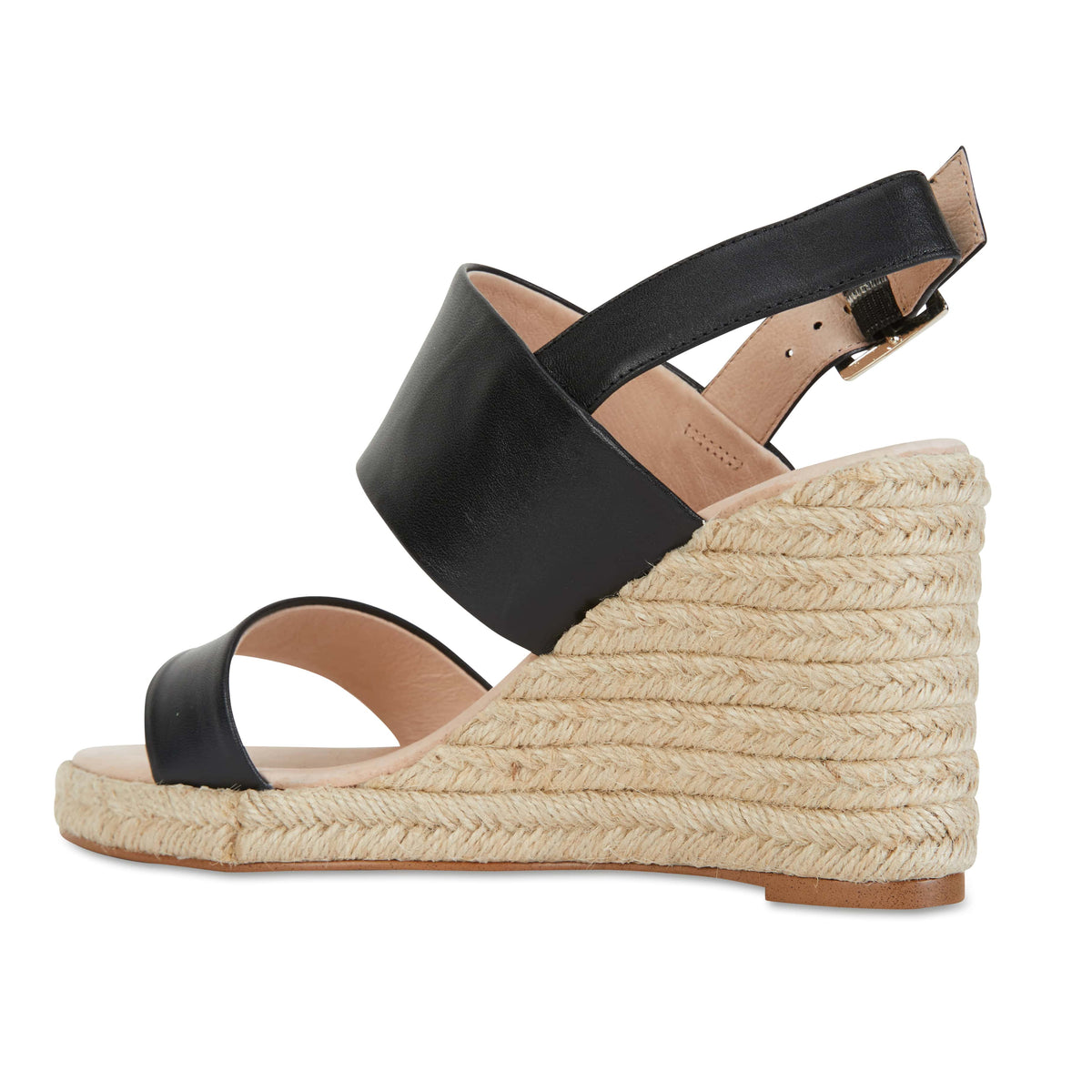Dice Espadrille in Black Leather