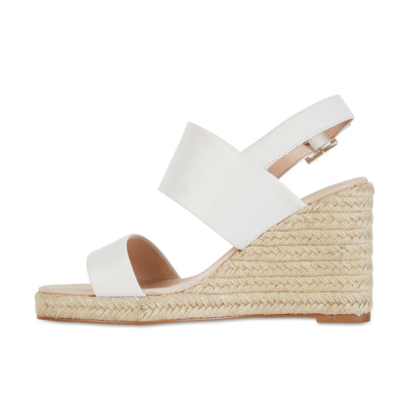 Dice Espadrille in White Leather