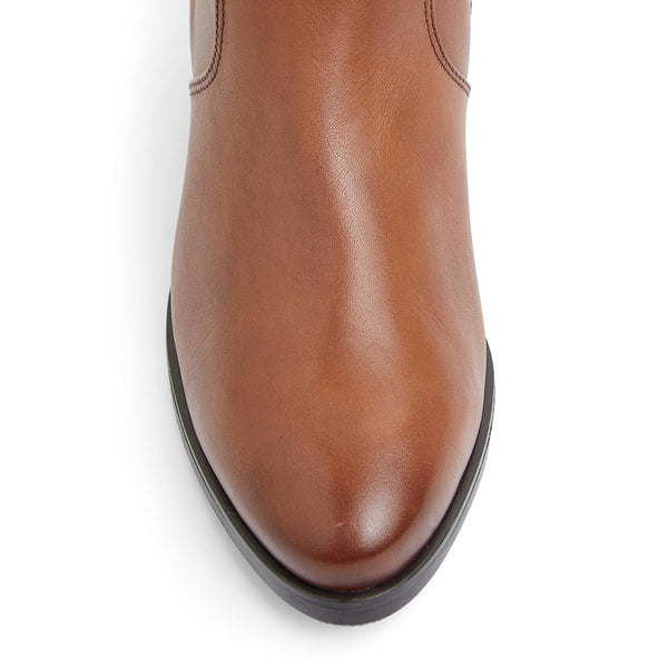 Dictate Boot in Mid Brown Leather