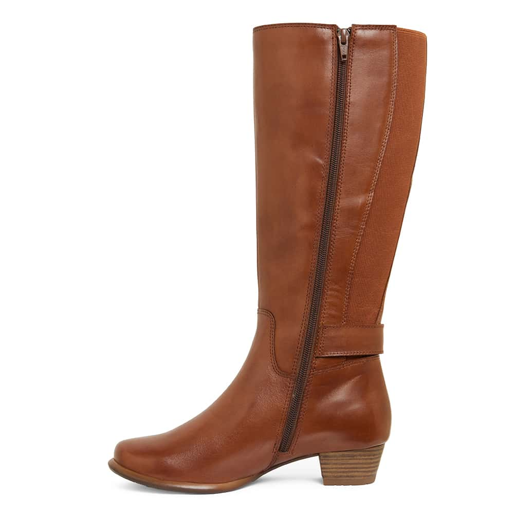 Diesel Boot in Cognac Leather