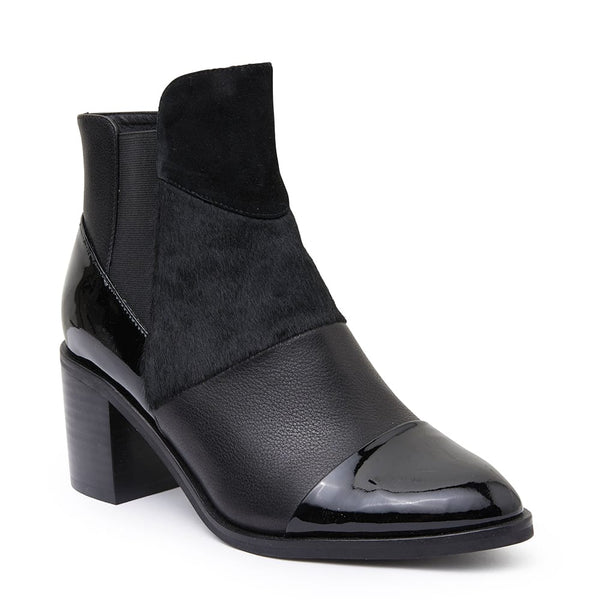 Dominic Boot in Black Leather
