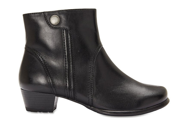 Draper Boot in Black Leather