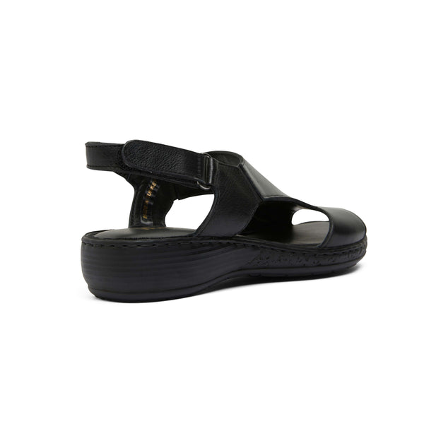 Dustin Sandal in Black Leather