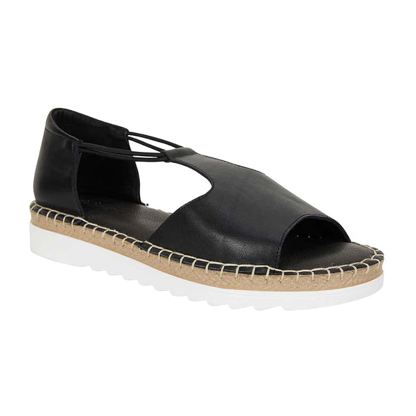 Eddie Sandal in Black Leather