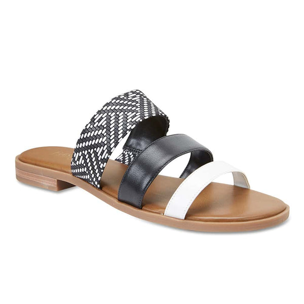 Egypt Slide in Black Leather