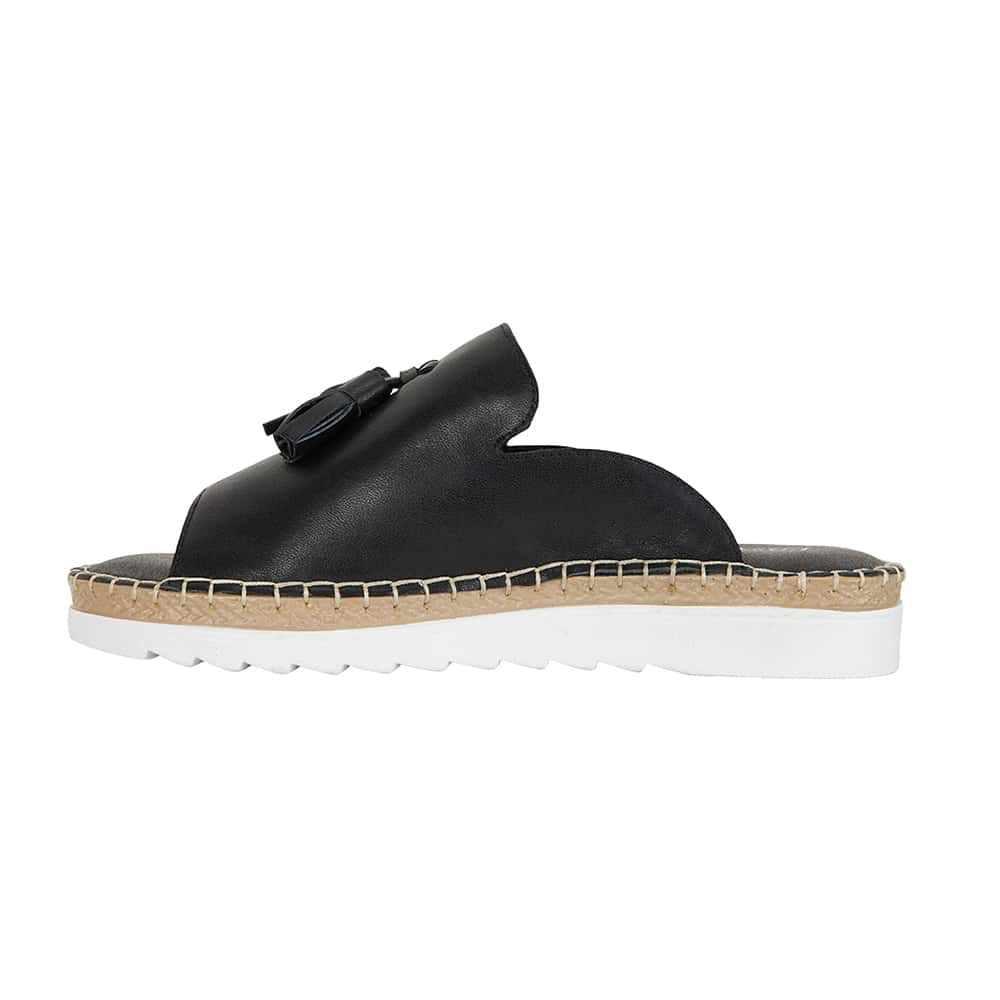 Elsa Sandal in Black Leather