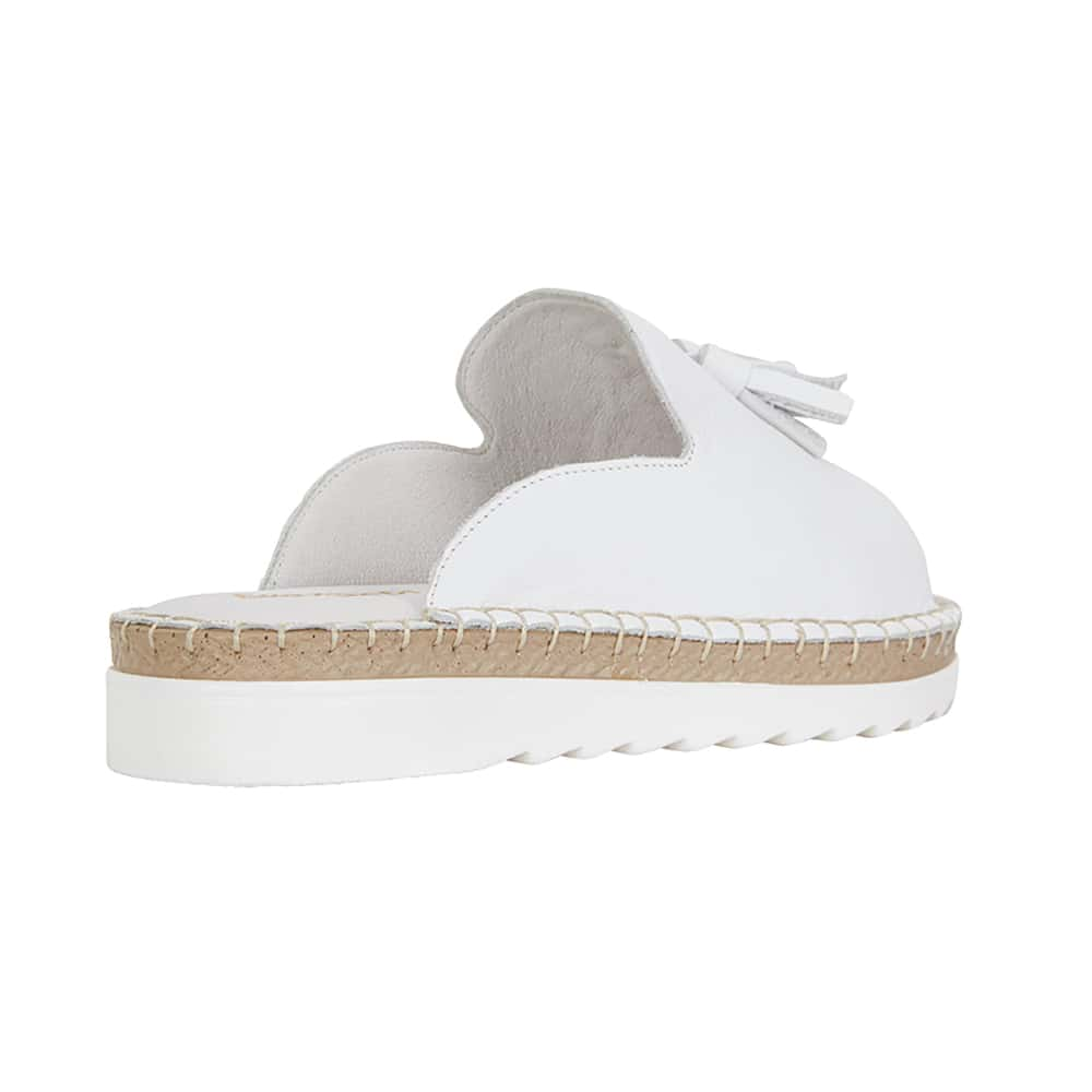 Elsa Sandal in White Leather