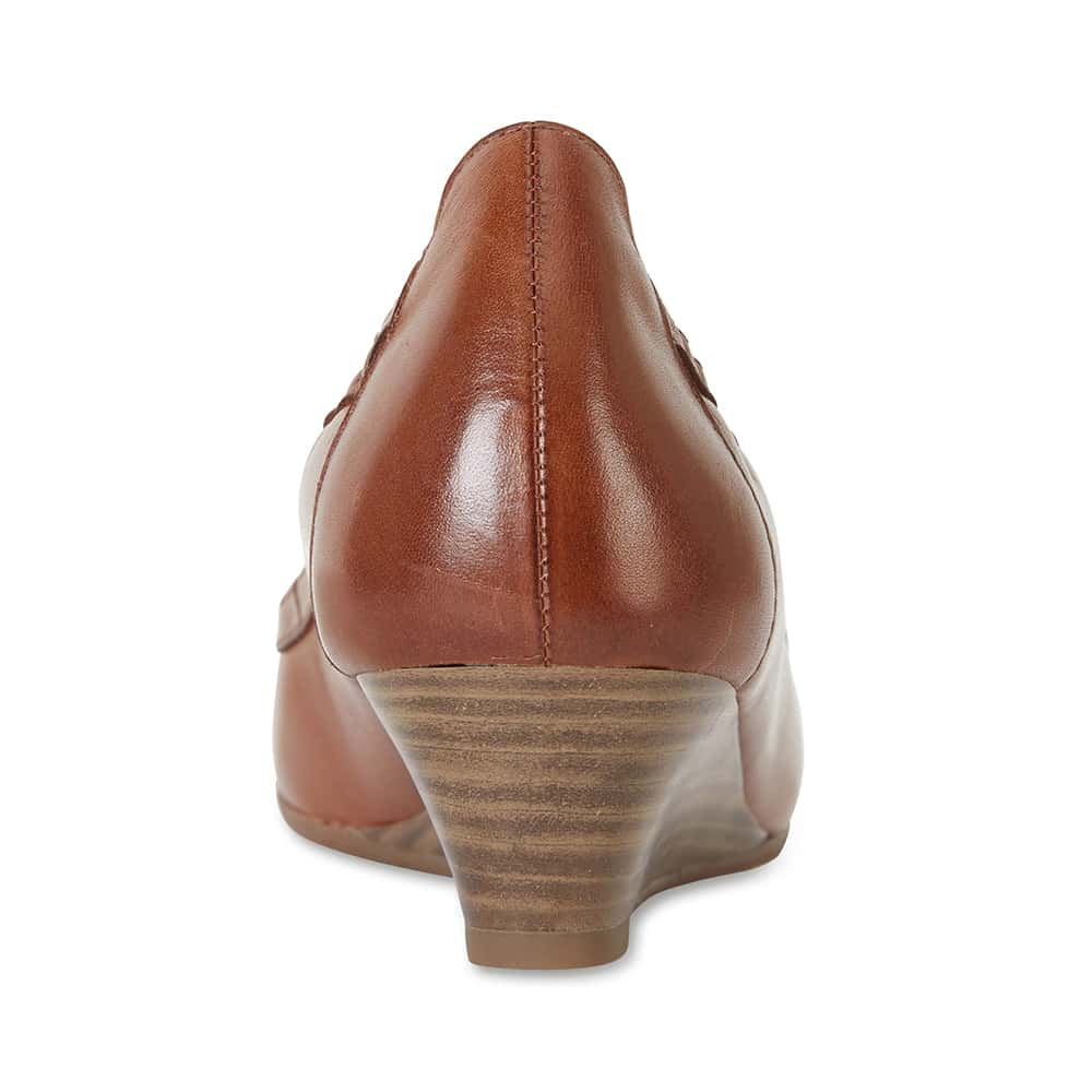 Elton Heel in Cognac Leather