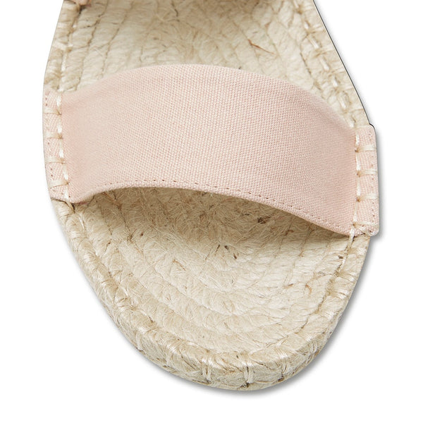 Embassy Sandal in Blush Canvas