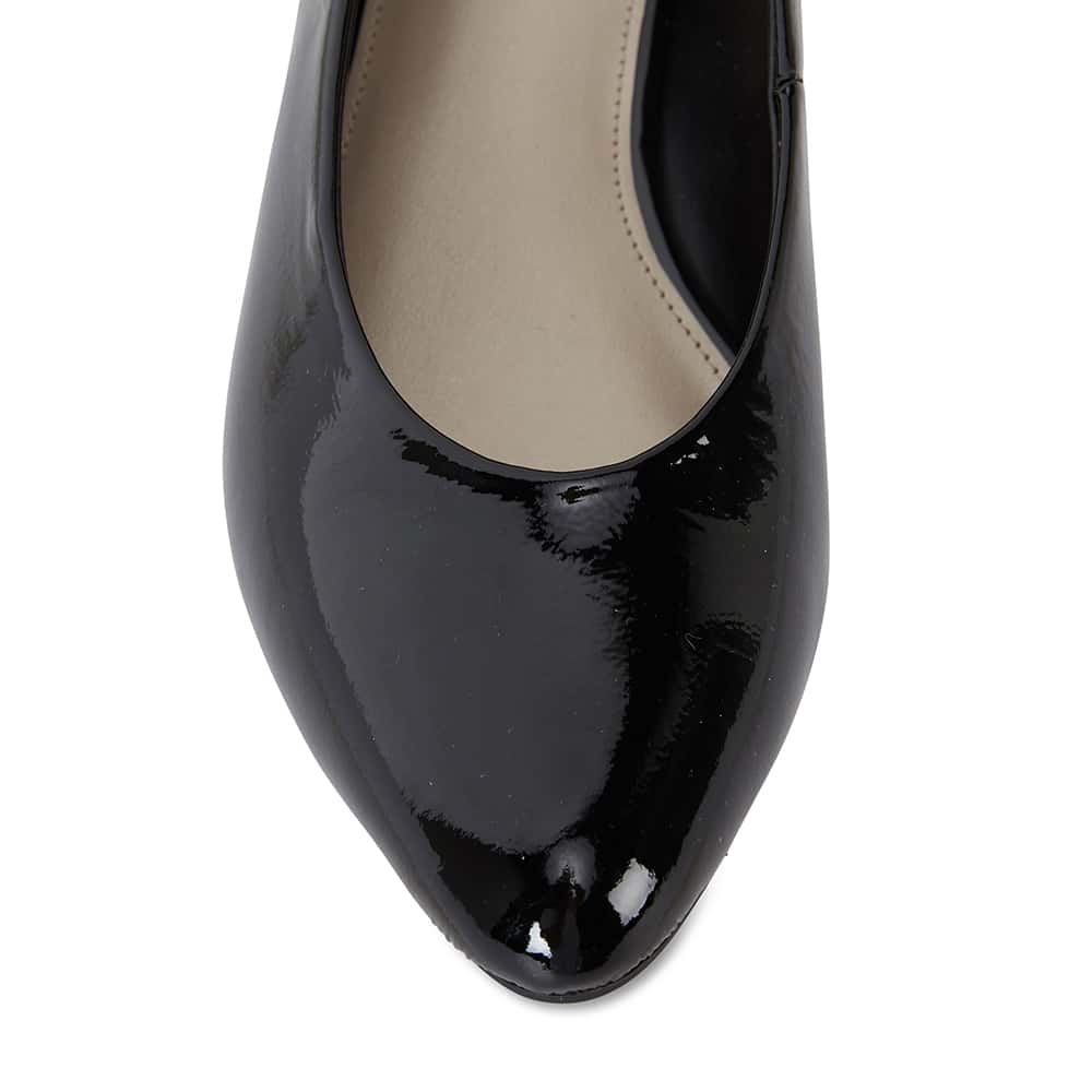 Emily Heel in Black Patent