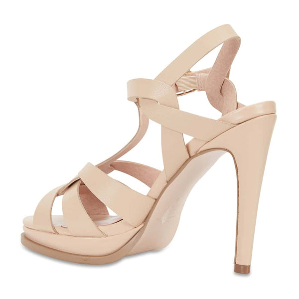 Empire Heel in Nude Leather