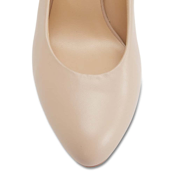Epic Heel in Nude Leather