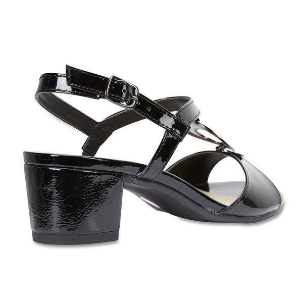 Estelle Heel in Black Patent