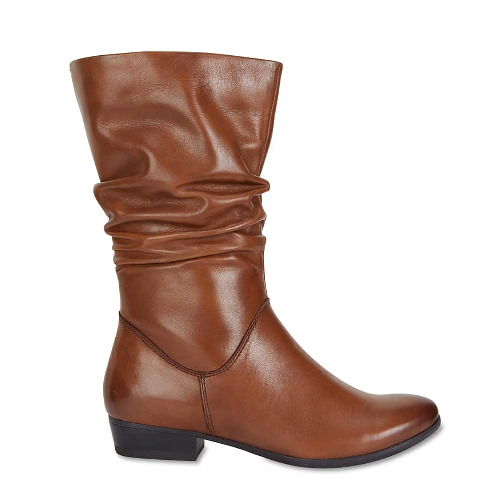 Ethan Boot in Mid Brown Leather