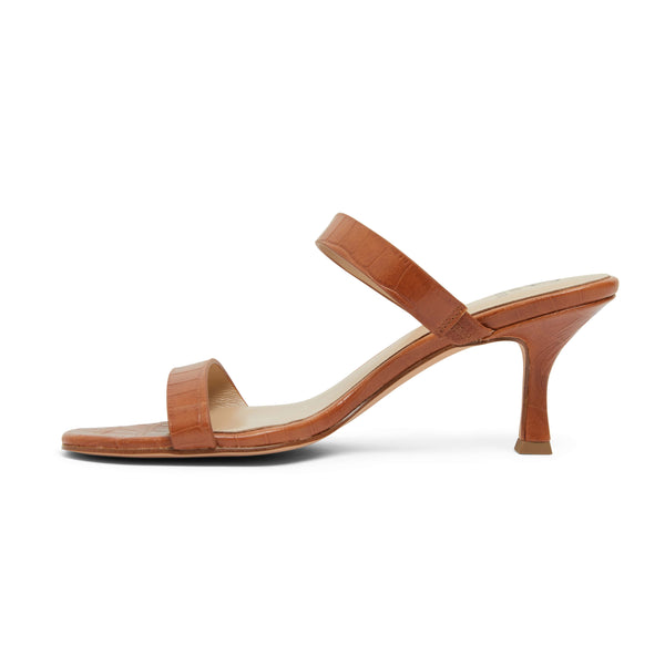 Eva Heel in Tan Leather