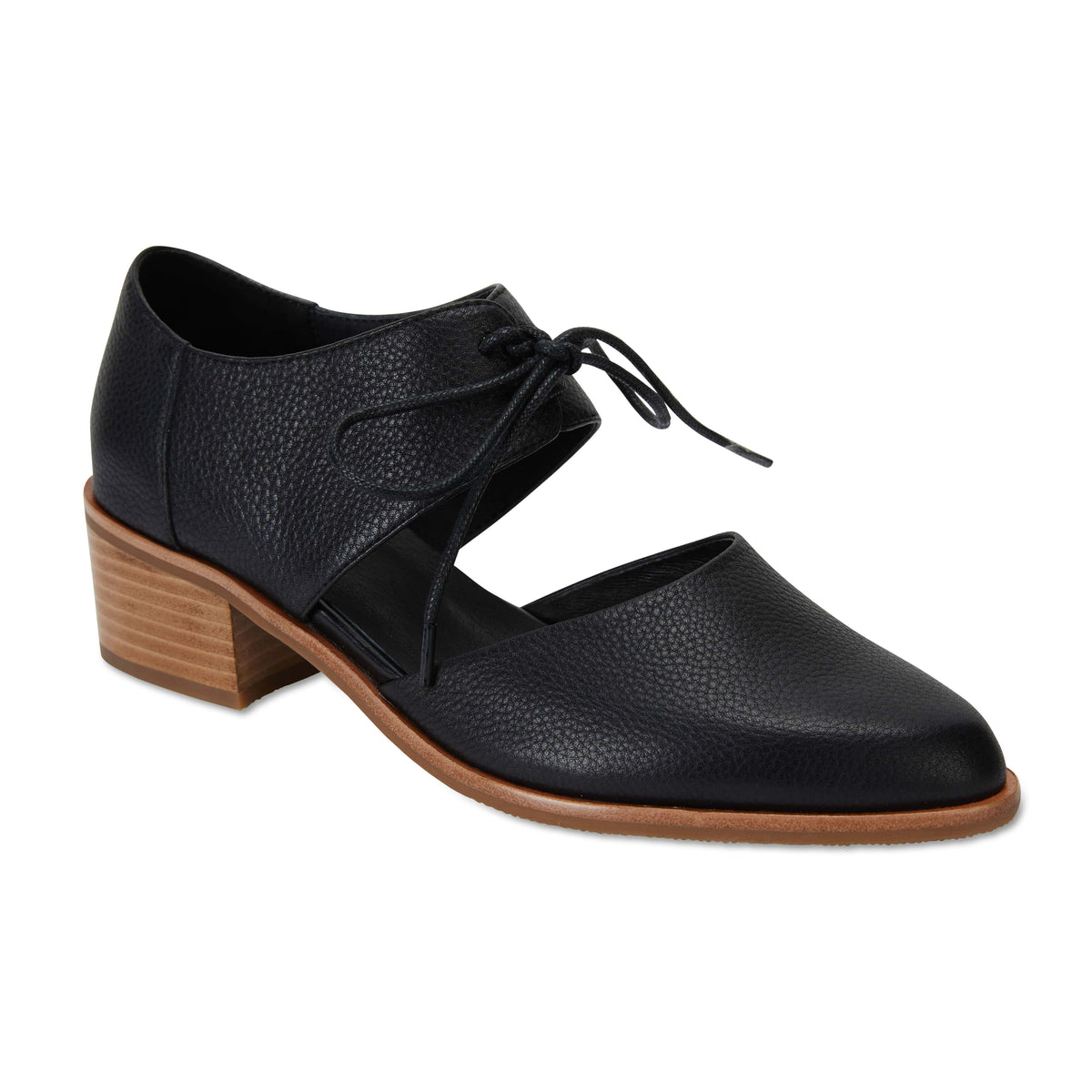 Exhibit Brogue in Black Leather