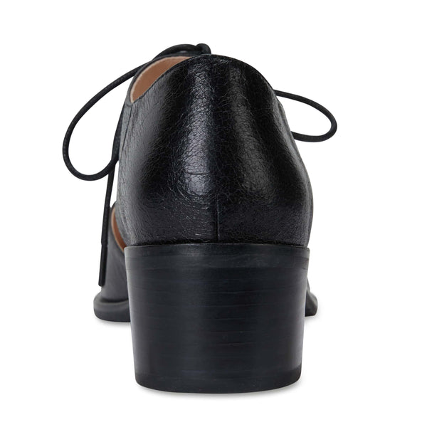 Exhibit Heel in Black Oil Leather