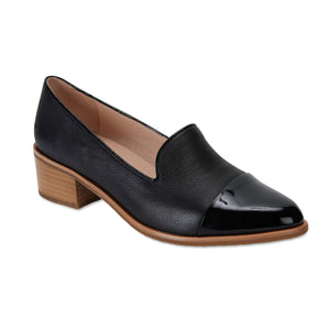 Expert Loafer in Black On Black Patent