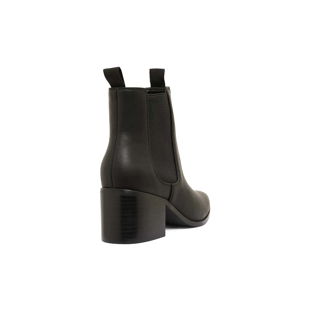 Faller Boot in Black Smooth