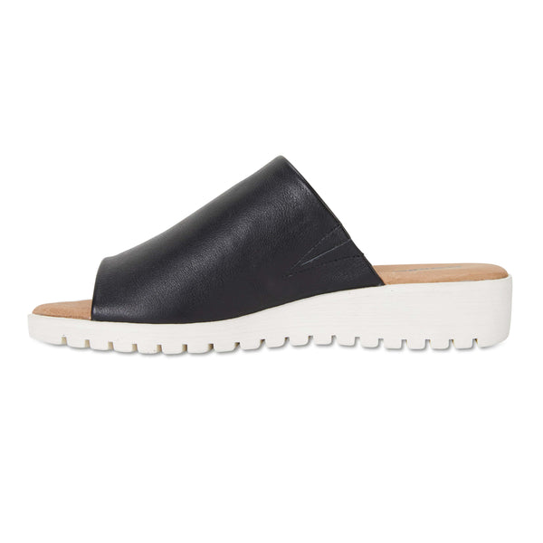 Fate Slide in Black Leather