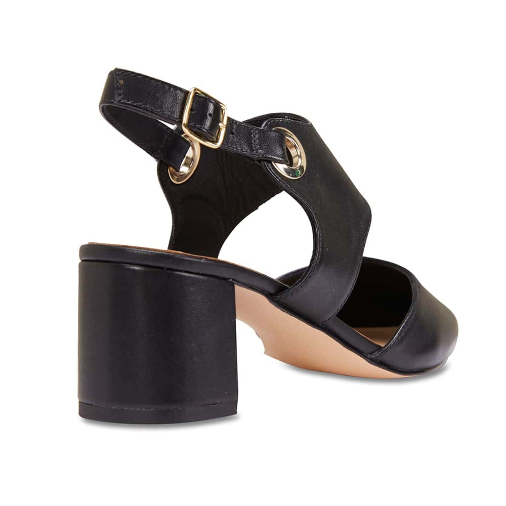 Felicity Heel in Black Leather