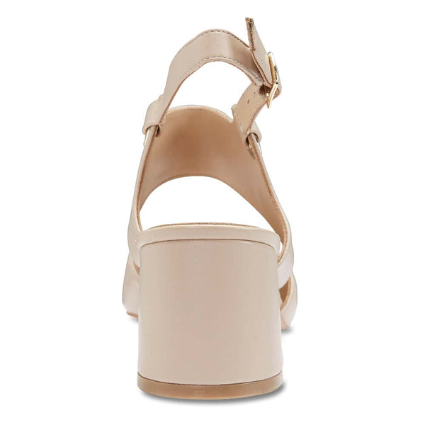 Felicity Heel in Nude Leather