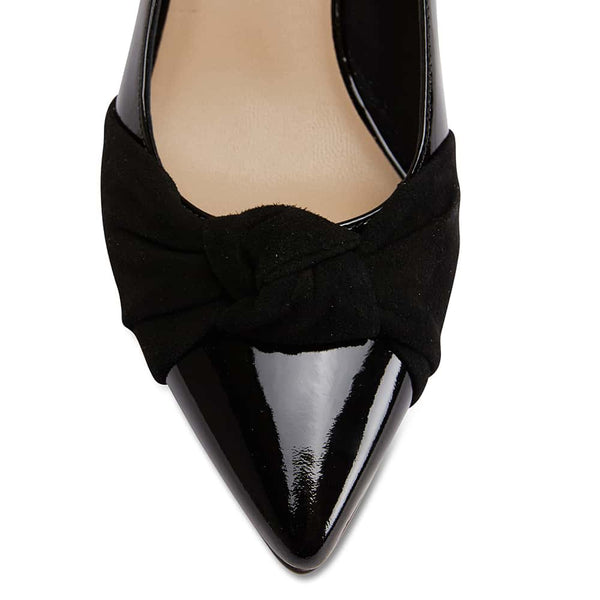 Flare Heel in Black Patent