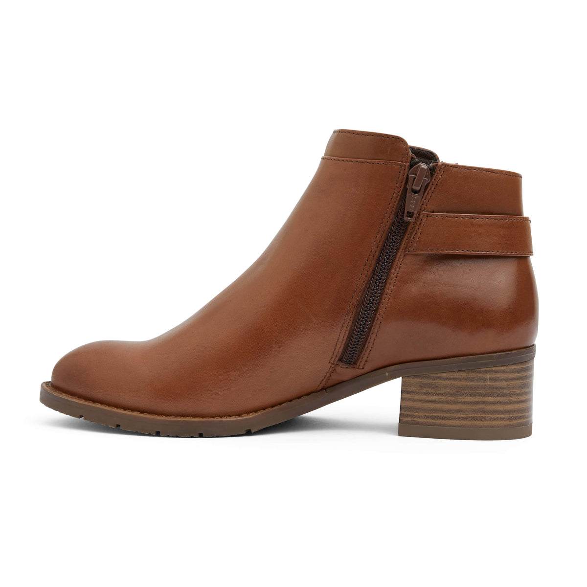 Fresco Boot in Mid Brown Leather