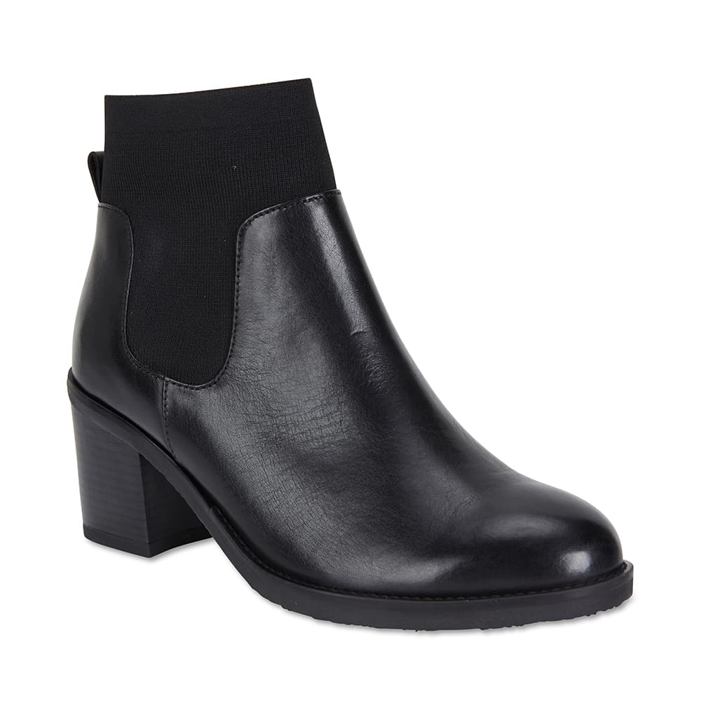 Fulton Boot in Black Leather