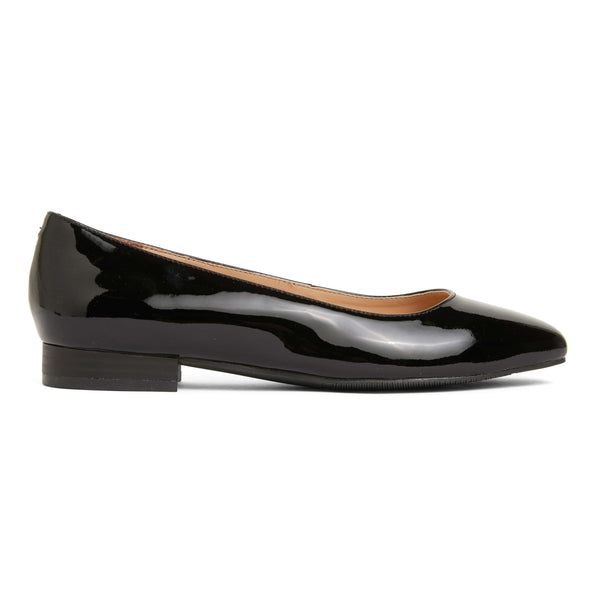Gaby Flat in Black Patent