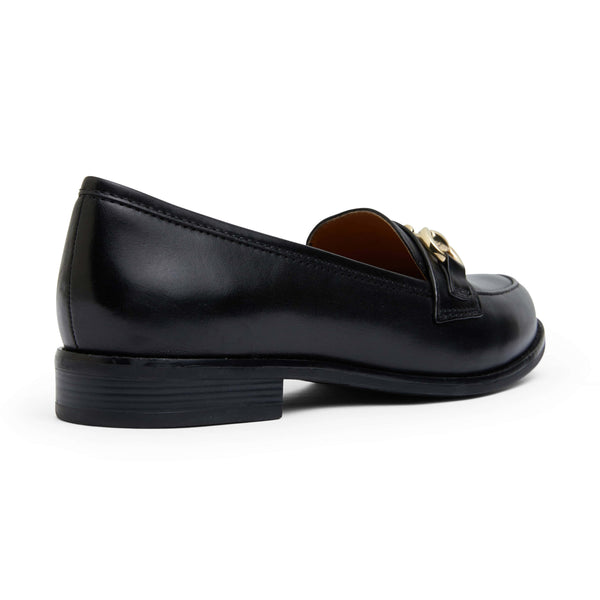 Gala Loafer in Black Leather