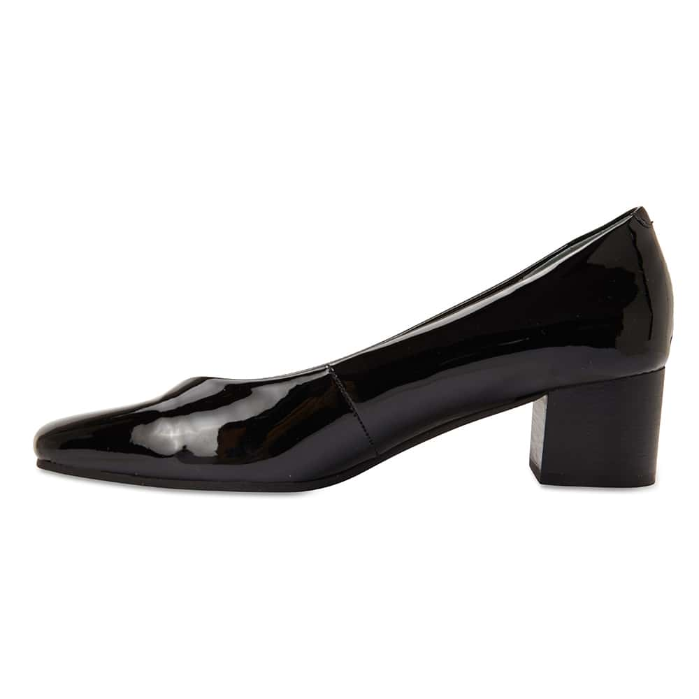 Gamma Heel in Black Patent