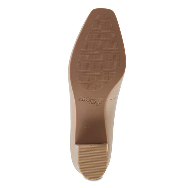 Gamma Heel in Nude Leather