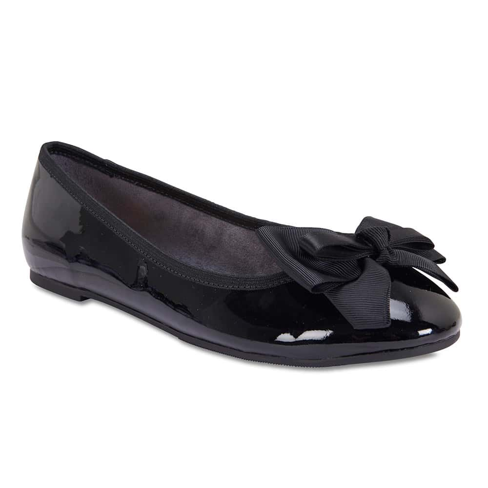 Gem Flat in Black Patent