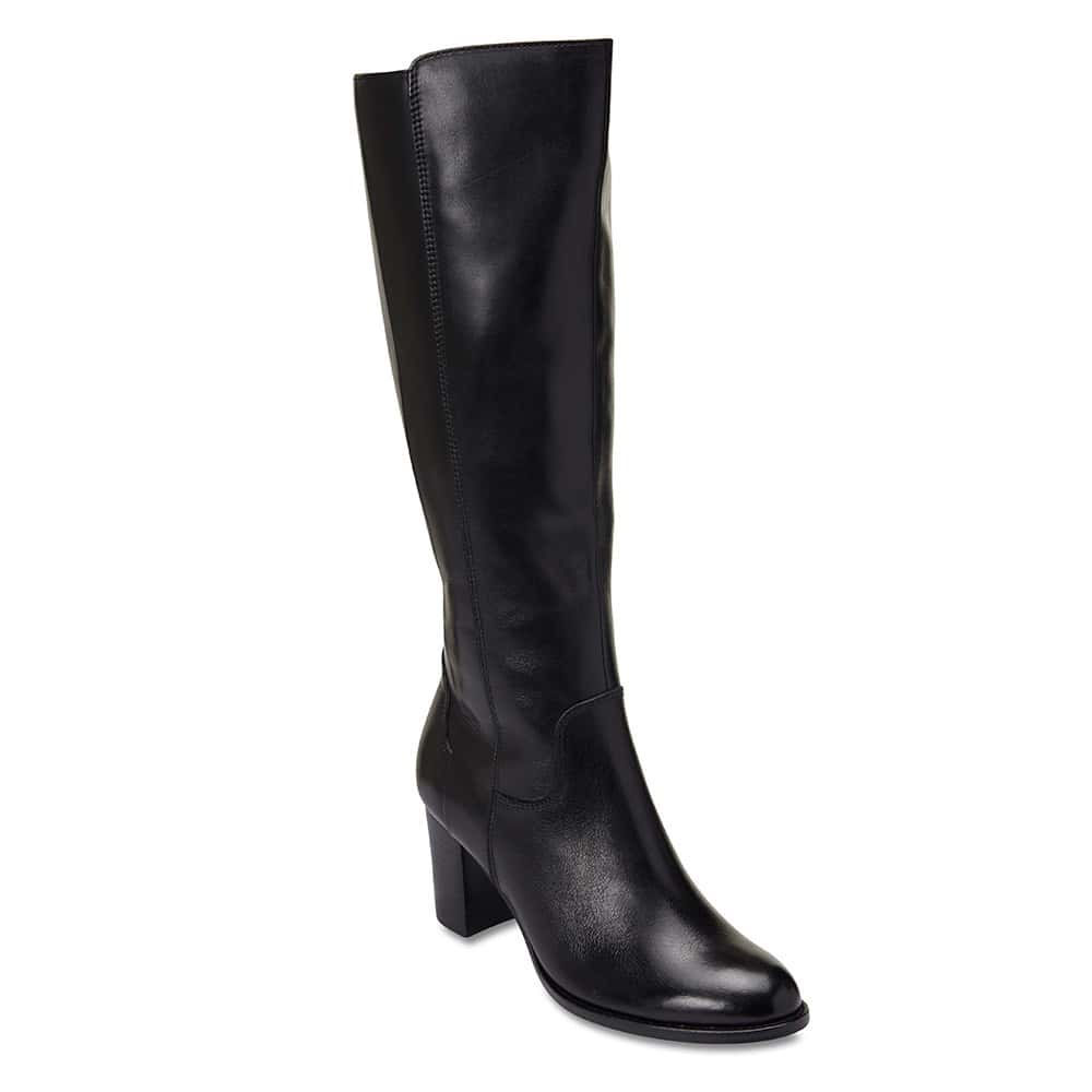 Germaine Boot in Black Leather
