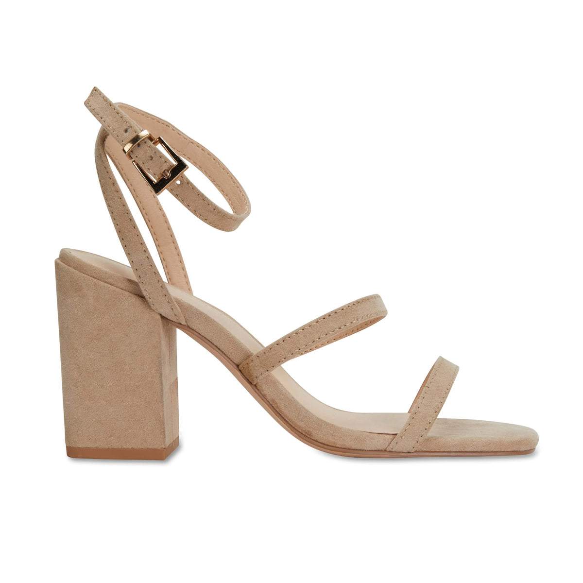 Gery Heel in Natural Suede