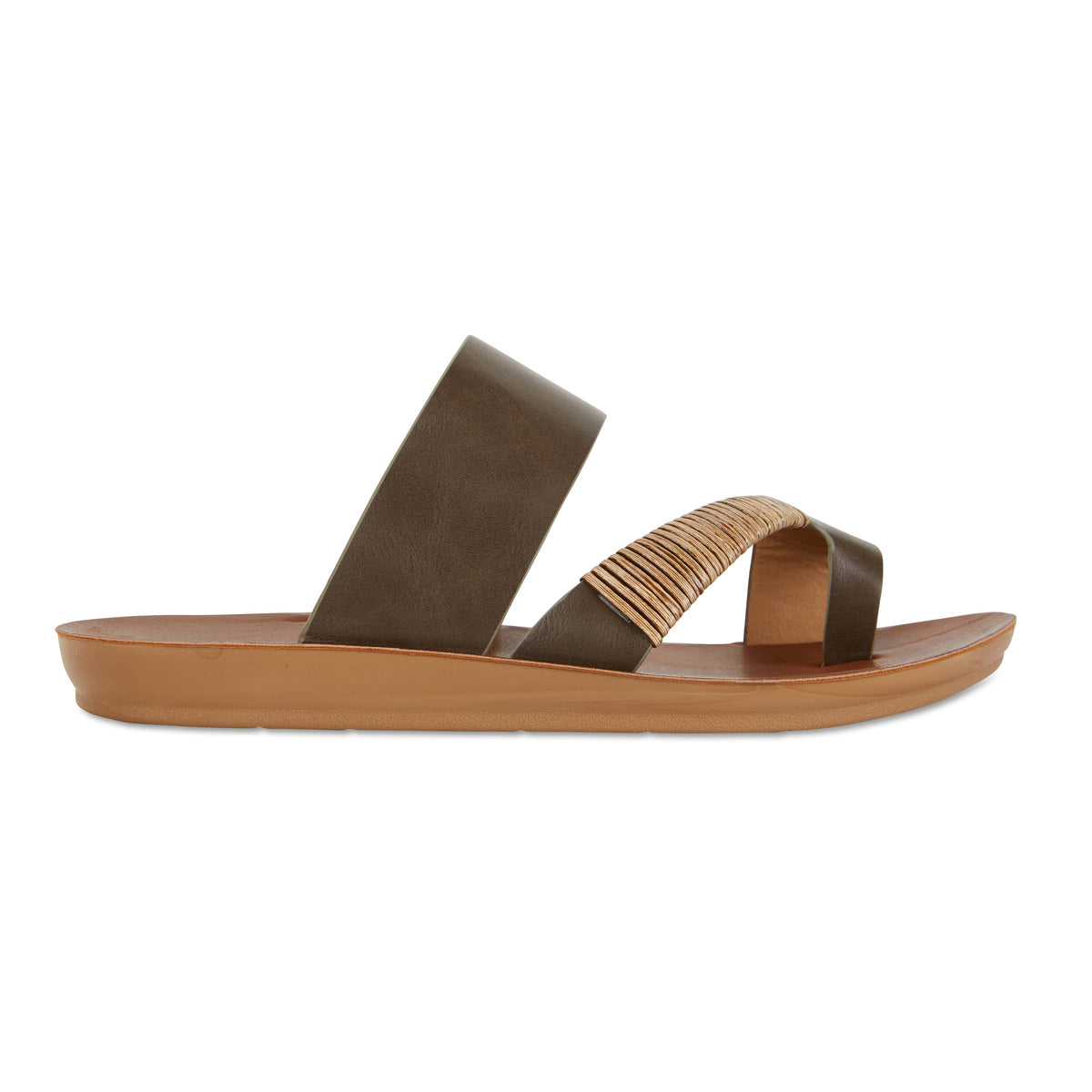 Gidget Sandal in Khaki Smooth