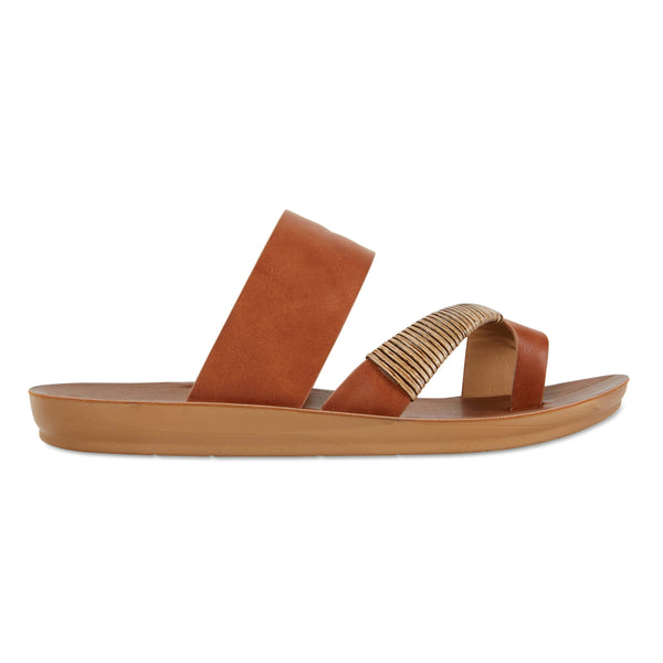 Gidget Sandal in Tan Smooth