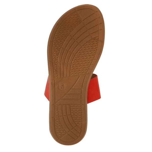 Gidget Sandal in Tangerine Smooth