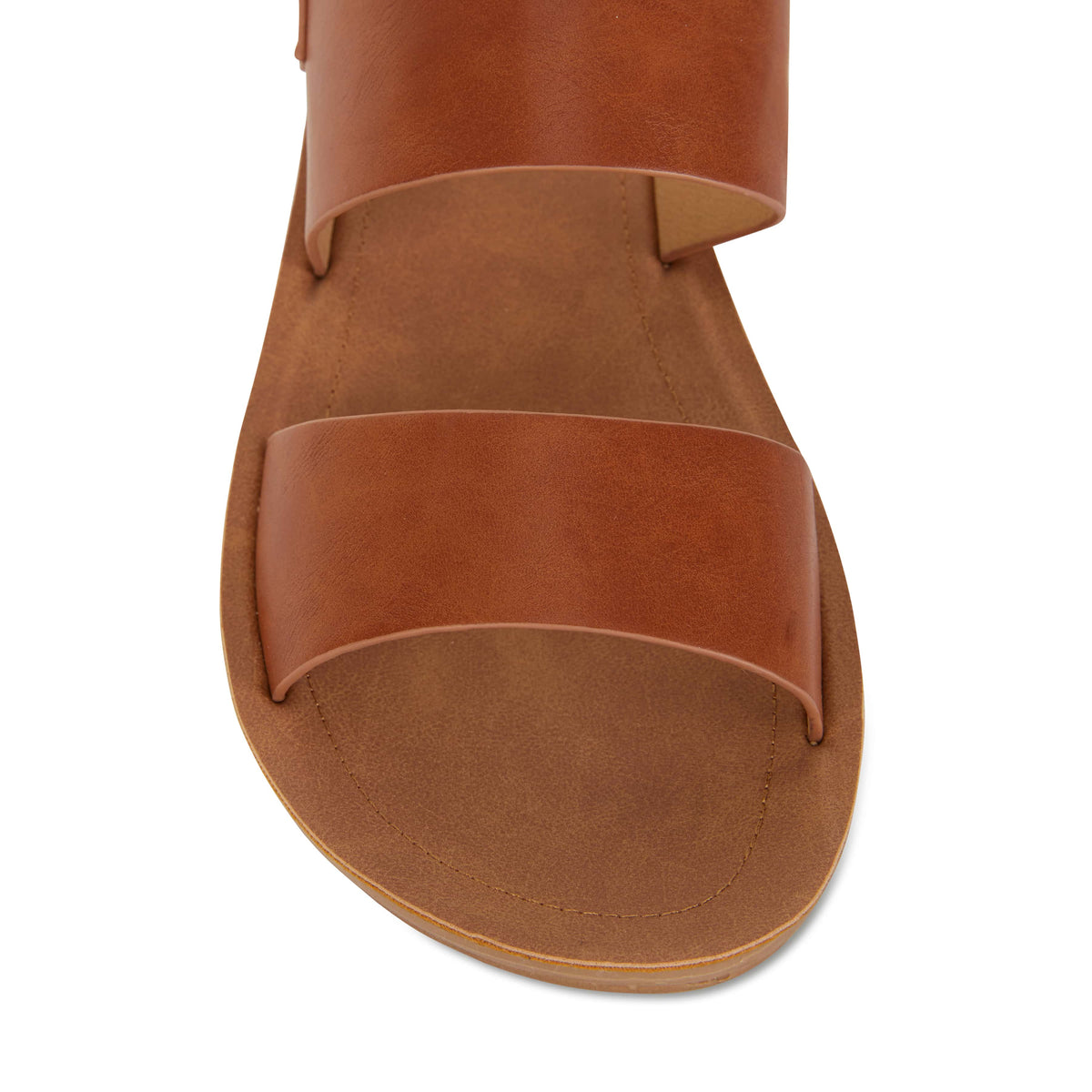 Ginger Sandal in Cognac Smooth