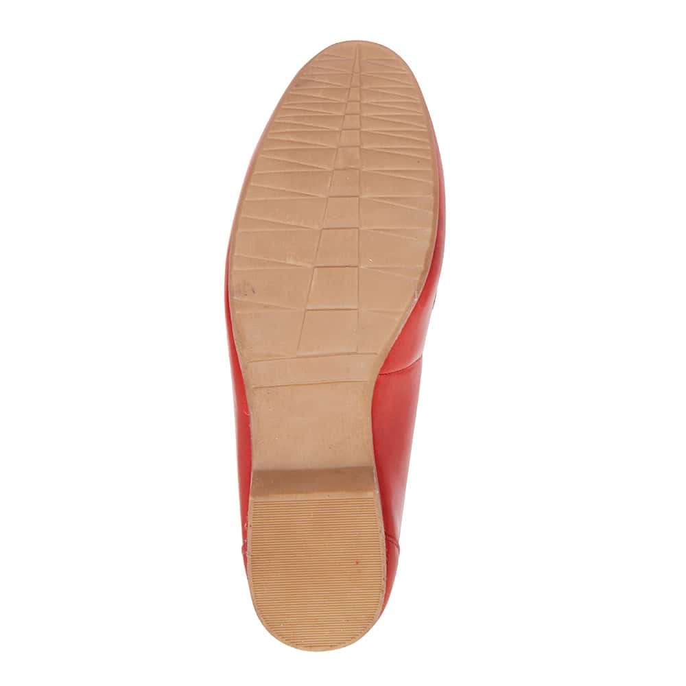 Glebe Flat in Red Leather