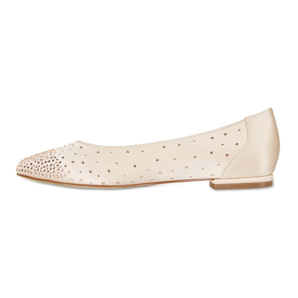 Glimmer Flat in Blush Satin