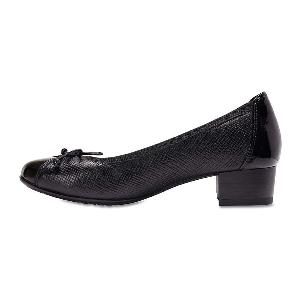 Grace Heel in Black Leather