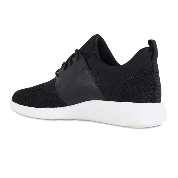 Guru Sneaker in Black Fabric