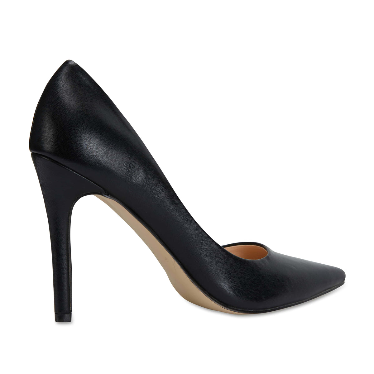 Harbour Heel in Black Smooth