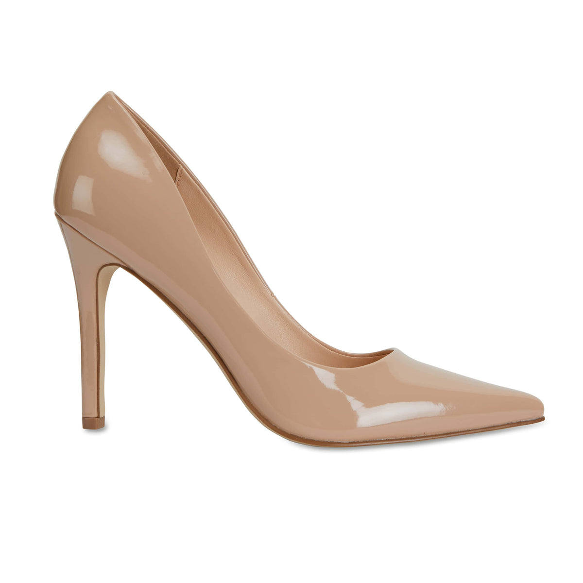 Harbour Heel in Nude Patent